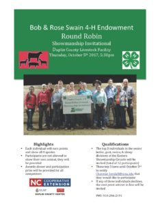 Cover photo for Bob & Rose Swain 4-H Endowment Round Robin
