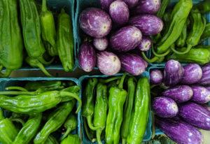 Farmers' market produce.