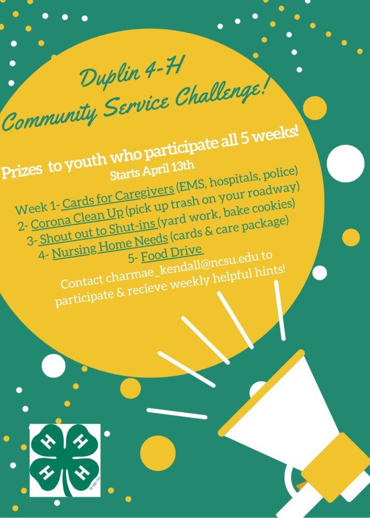Community Service Challenge