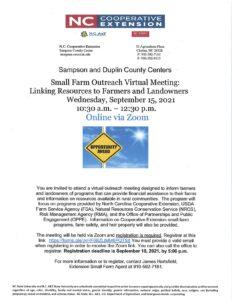 Small Farm Outreach Virtual Meeting